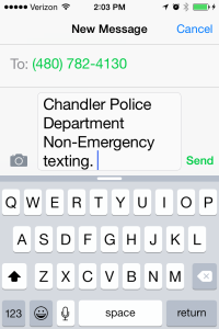 non emergency text